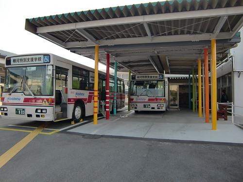 柳河特別支援学校バス停車場現在
